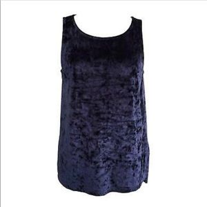 NWT Crushed Velvet Blue Tank